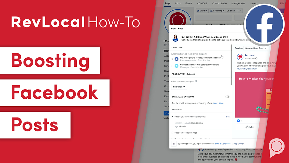 RevLocal How-To: Boosting Facebook Posts
