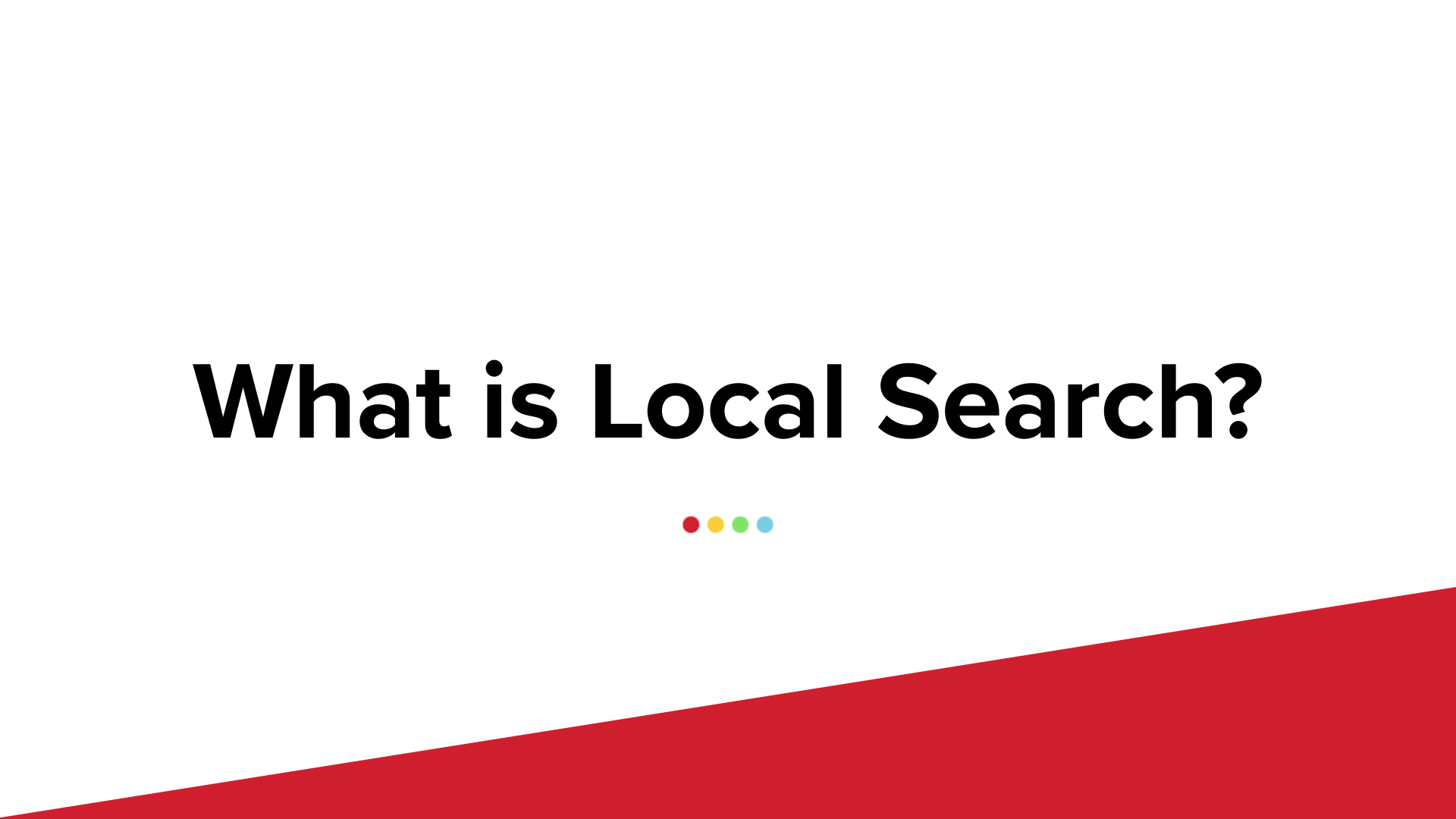 Digital Marketing Refresh: What Is Local Search?