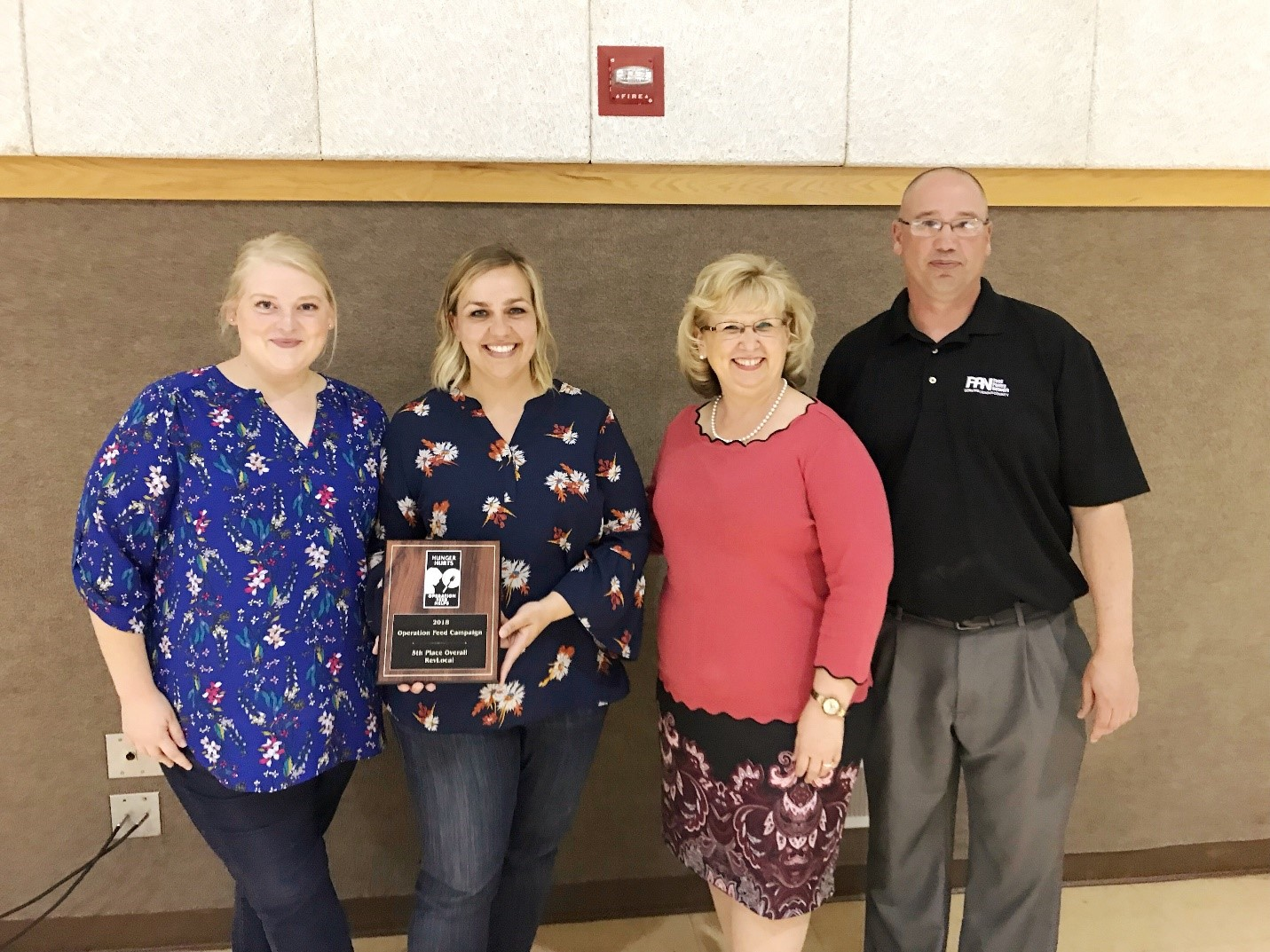 RevLocal employees received award from Licking County Food Pantry Network for 2018 Operation Feed campaign