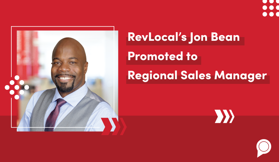 RevLocal's Jon Bean Promoted to Regional Sales Manager